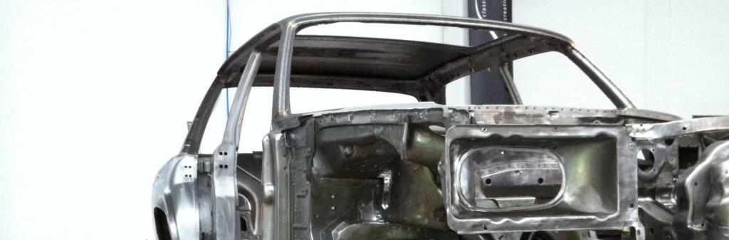 Mercedes W116 450SEL 6.9, Rohkarosserie chemisch entlackt